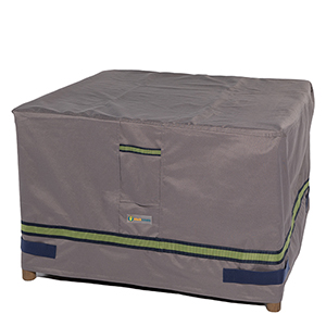 Soteria Grey RainProof 32 In. Square Patio Ottoman or Side Table Cover