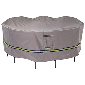 Soteria Grey RainProof 76 In. Round Patio Table with Chairs Cover