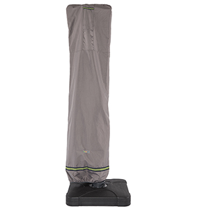 Soteria Grey RainProof 101 In. Patio Offset Umbrella Cover with Integrated Installation Pole