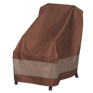 Ultimate Mocha Cappuccino 26-Inch High Back Patio Chair Cover