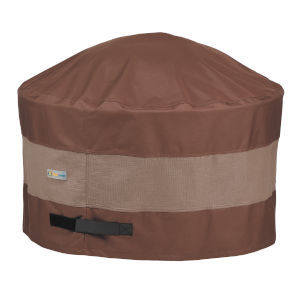 Ultimate Mocha Cappuccino 32-Inch Round Fire Pit Cover