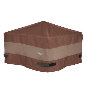 Ultimate Mocha Cappuccino 44-Inch Square Fire Pit Cover