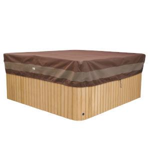 Ultimate Mocha Cappuccino 86-Inch Square Hot Tub Cover Cap