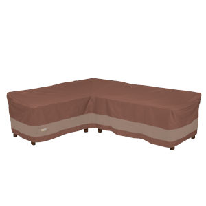 Ultimate Mocha Cappuccino 104-Inch Patio Left-Facing Sectional Lounge Set Cover