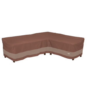 Ultimate Mocha Cappuccino 104-Inch Patio Right-Facing Sectional Lounge Set Cover