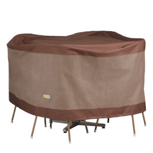 Ultimate Mocha Cappuccino 56-Inch Round Patio Table and Chair Set Cover