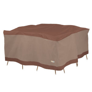 Ultimate Mocha Cappuccino 66-Inch Square Patio Table and Chair Set Cover