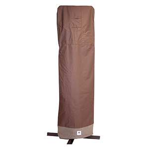 Ultimate Mocha Cappuccino 101 In. Patio Offset Umbrella Cover with Integrated Installation Pole