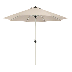Elm Antique Beige 9 Ft. Fade Safe Round Aluminum Patio Umbrella
