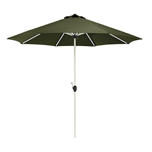 Elm Heather Fern Green Fade Safe 9 Ft. Round Aluminum Patio Umbrella