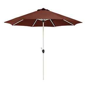 Elm Heather Henna Red Fade Safe 9 Ft. Round Aluminum Patio Umbrella