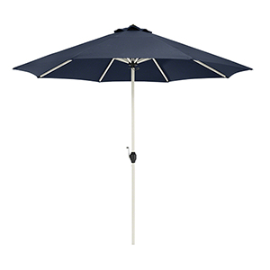 Elm Heather Indigo Blue Fade Safe 9 Ft. Round Aluminum Patio Umbrella