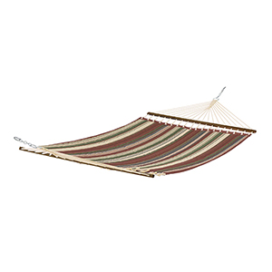 Elm Heather Henna Red Multi-Stripe Fade Safe Quilted Hammock