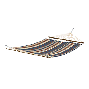 Elm Heather Indigo Blue Multi-Stripe Fade Safe Quilted Hammock