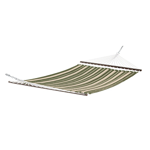 Elm Heather Fern Green Stripe Fade Safe Quilted Hammock