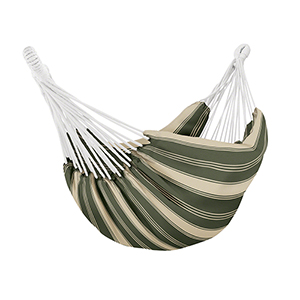 Elm Heather Fern Green Stripe Fade Safe Brazilian Hammock