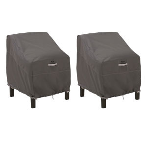 Maple Dark Taupe Patio Lounge Chair Cover, Set of 2