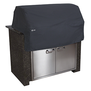 Poplar Black Large Built-In Patio Grill Top Cover