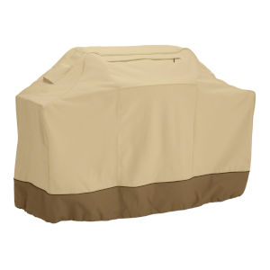 Ash Beige and Brown 8-Inch BBQ Grill Cover