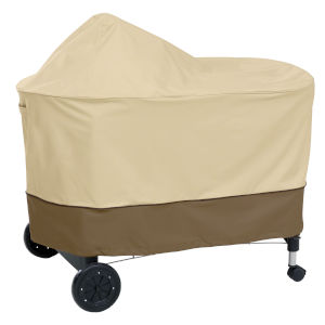 Ash Beige and Brown BBQ Grill Cover for Weber Performer