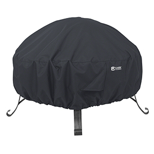 Poplar Black Large Full Coverage Round Fire Pit Cover
