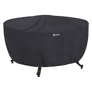 Poplar Black 42 In. Round Fire Pit Table Cover
