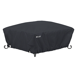 Poplar Black Small Full Coverage Square Fire Pit Cover