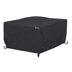 Poplar Black 42 In. Square Fire Pit Table Cover