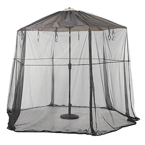 Poplar Black Universal Round Patio Umbrella Insect Screen Canopy