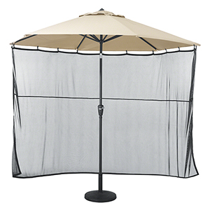 Poplar Black Universal Patio Umbrella Shade Screen