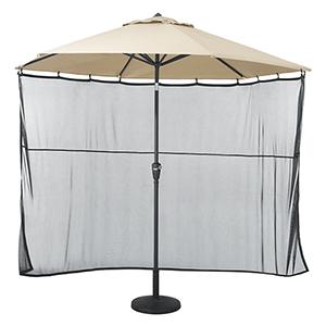 Poplar Black Universal Patio Umbrella Shade Screen
