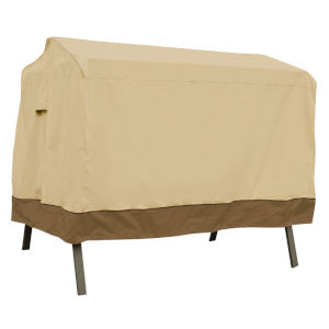 Ash Beige and Brown Canopy Swing Cover