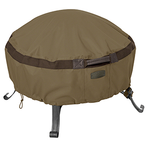 Eucalyptus Oak Large Heavy-Duty Full Coverage Round Fire Pit Cover