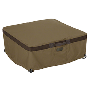 Eucalyptus Oak Large Heavy-Duty Full Coverage Square Fire Pit Cover