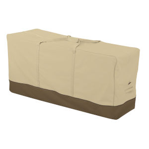 Ash Beige and Brown Patio Cushion and Cover Storage Bag