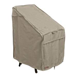 Elm Heather Grey Fade Safe Stackable Patio Chairs Cover