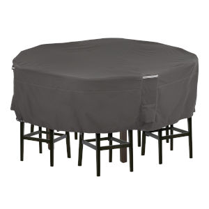 Maple Dark Taupe Round Patio Table and Chair Set Cover