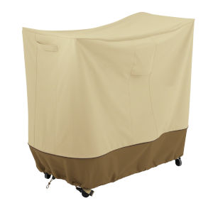 Ash Beige and Brown Double Handle Bar Cart Cover