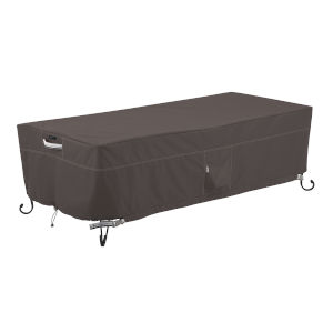 Maple Dark Taupe Rectangular Fire Pit Table Cover