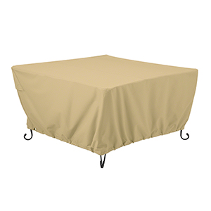 Palm Sand 42 In. Square Fire Pit Table Cover