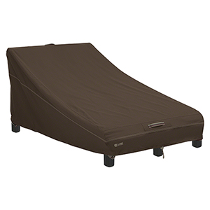 Birch Dark Cocoa RainProof Double Wide Patio Chaise Lounge Cover