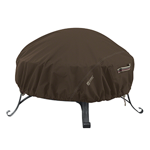 Birch Dark Cocoa Small RainProof Round Fire Pit Cover