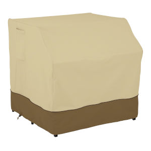 Ash Beige and Brown Outdoor Bar Set Cover