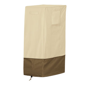 Ash Beige and Brown 33-Inch Square Smoker Grill Cover