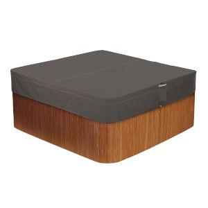 Maple Dark Taupe 94-Inch Square Hot Tub Cover