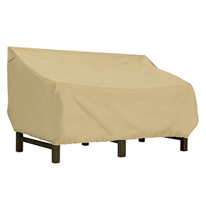 Palm Sand Small Deep Seated Patio Loveseat Cover
