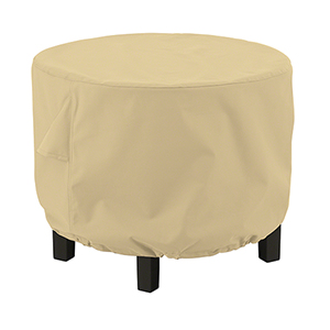 Palm Sand Large Round Ottoman Coffee Table Cover