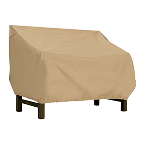 Palm Sand Small Patio Bench Loveseat Cover