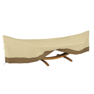 Ash Beige and Brown 13-Foot Framed Hammock and Stand Cover