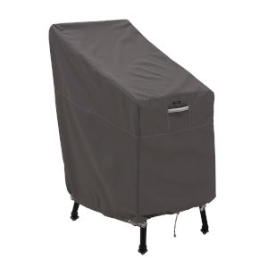 Maple Dark Taupe Patio Bar Chair and Stool Cover